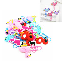 6pcs Baby Shower Flamingo Unicornio Rubber Cute Bookmark Mermaid Unicorn Birthday Party Decorations Kids Jungle Favors