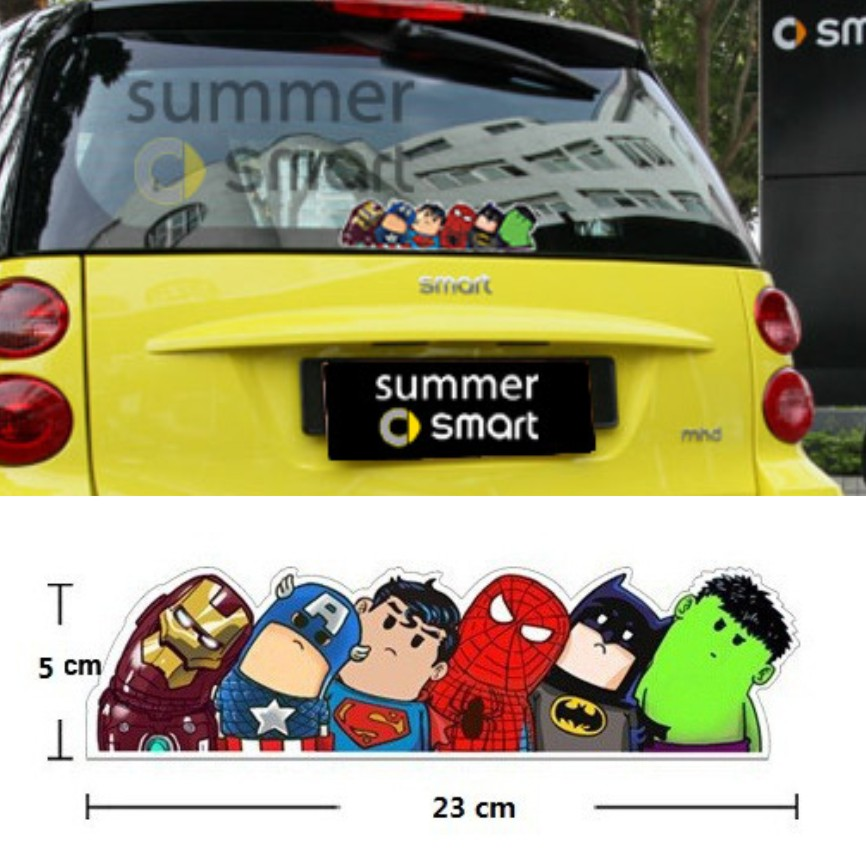 10Pcs/Lot Car Styling American Hero 3D Reflective Car Sticker Car Cover Super Hero Hitchhike Let Ride The Hero Film