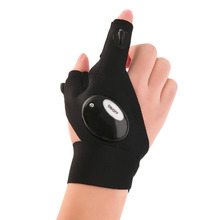 Outdoor LED Fingerless font b Glove b font Fishing Magic Strap Flashlight Torch Cover Survival Camping