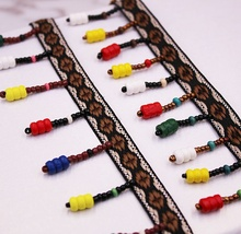 1Yards Ethnic Tassel Embroidery Lace Silk Fringe Trim Tassels for Jewelry Diy Boho Sewing Clothes Accessories Ribbon