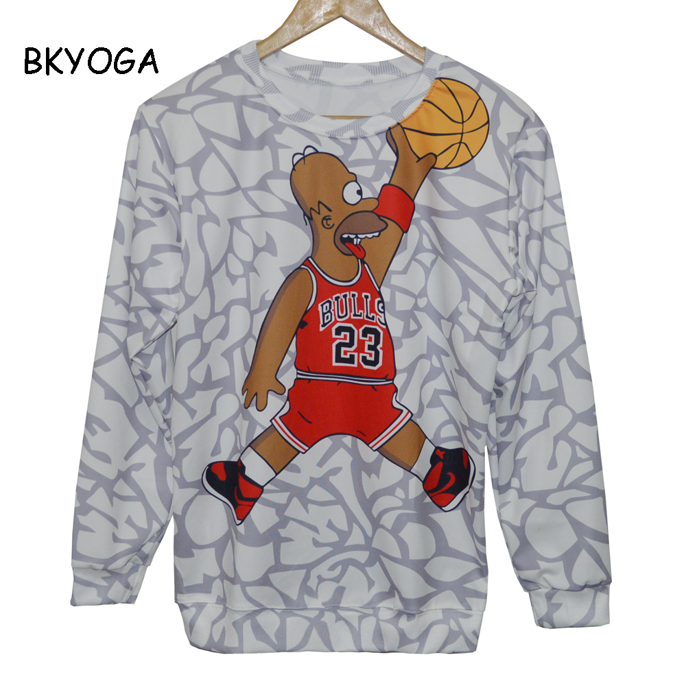 Hot Unisex hoody Bulls 23 Print 3D galaxy sweatshirt hoodie high street hip hop outdoors sweat Spring pullover