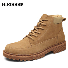 Faux Suede Leather Men Casual Boots Spring Autumn And Winter Man Winter Leather Shoes Ankle Boot Men's Snow Shoes Work Boots spring autum army combat boots leather men work safety shoe steel toe security shoes for men winter snow boot ankle suede