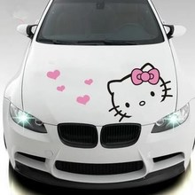 KT YÖNÜ kedi hello kitty gölgelik araba sticker karikatür sevimli çekme çiçek araba golf sopası kılıfı vücut dekorasyon araba st...