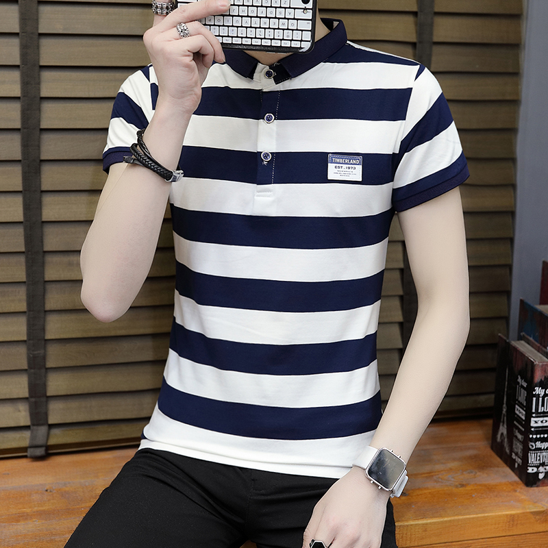 New summer high quality striped short sleeve polo shirt men brand clothing fashion Korean casual slim fit male camisa 9018Z 2