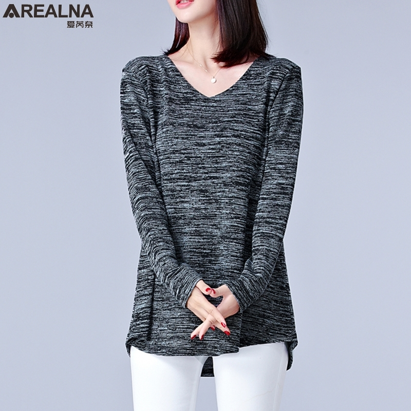 2017 new autumn long sleeve tshirt women tops sexy t shirt femme plus size fat mm casual loose. Black Bedroom Furniture Sets. Home Design Ideas