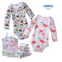 Hooyi Bodysuits תינוק שרוול ארוך הדפסה מלאה גוף bebe תינוק חודשים ropa de bebe סרבל בגדי גוף סט בגדי תינוקת