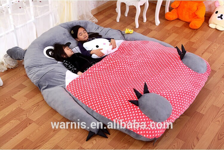 2m 1 8m Tatami Cartoon Totoro Double Bed Sleeping Portable Anime Toy Play Mat Futon Mattress In Stuffed Plush Animals From Toys Hobbies On