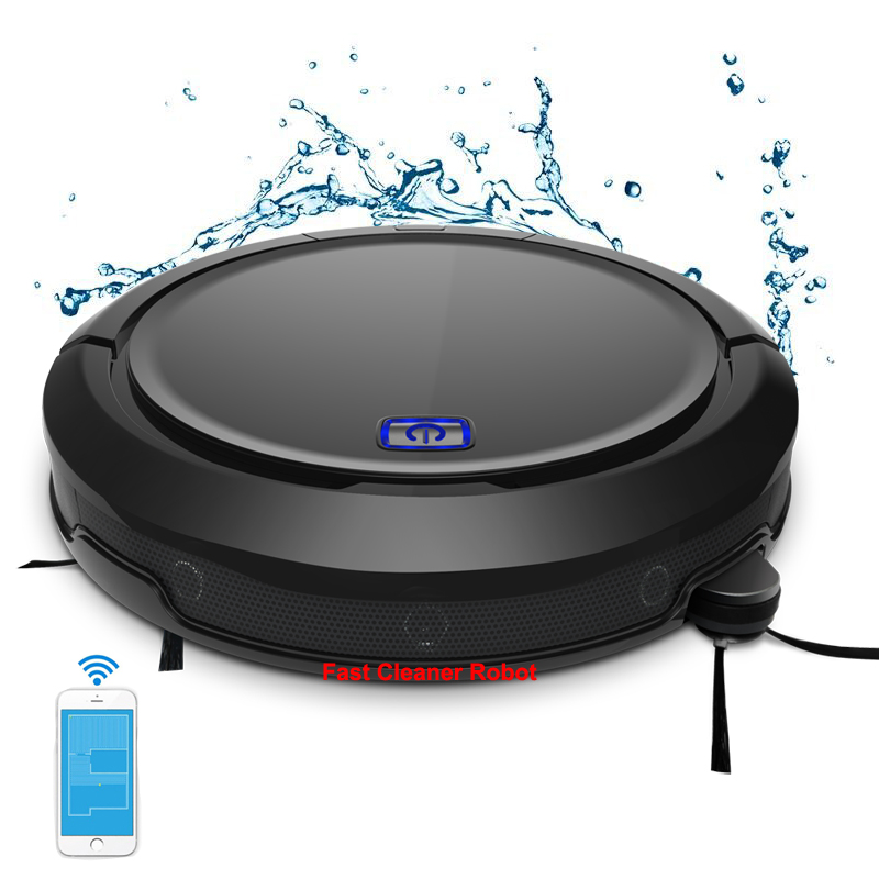 Smart Memory 3D Map Navigation Smartphone App Control Intelligent Vacuum Cleaner Robot QQ9  With Water Tank, Extendable Brush