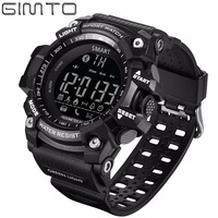 GIMTO Brand Digital Men Sport Watch Bluetooth Pedometer Smart Shock Diving Stopwatch Waterproof Male Electronic Wrist