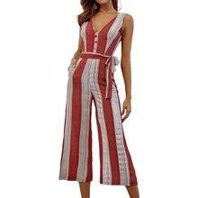 Summer Women's Short Jumpsuit Fashion Print Pocket with Short Sleeve Siamese Mono corto de verano para mujer#JE-55