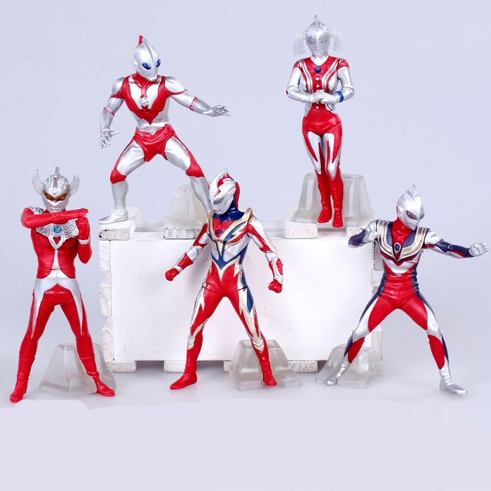 Anime Ultraman Tiga 8 Edition 5 pcs/set PVC Action Figure