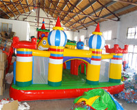 2017 Popular Big Fun City Indoor Playgrounds Inflatable Bounce House And Slide Combo