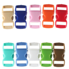 NOCM Hot 10 X 10MM 3/8 Curved Side Release Buckles paracord Bracelet Webbing Straps Color: Mixed Color