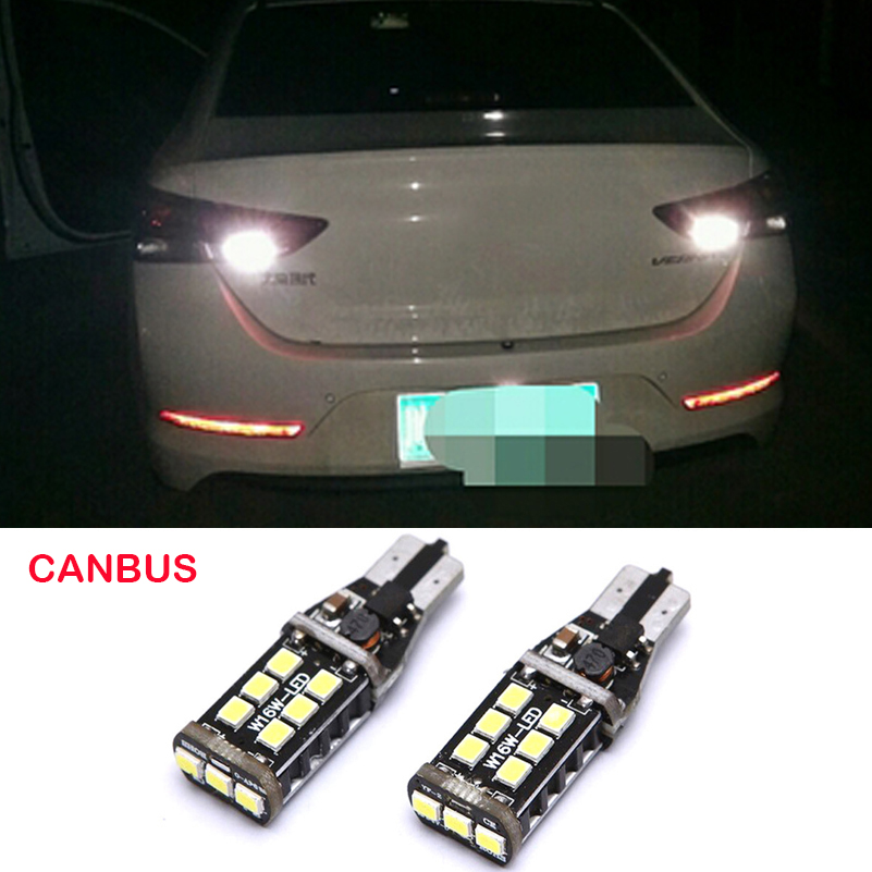 For Hyundai Solaris IX35 Verna Extremely Bright Canbus Error Free SMD 2835 912 921 T15 W16W Car LED Backup Light Reverse Lights