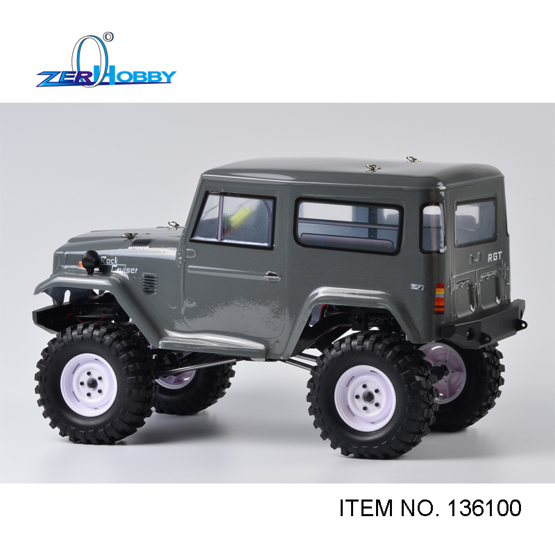 HSP Racing RGT 1/10 Scale Electric 4wd Off Road Rock Crawler Cruiser RC-4 Climbing Hobby Remote Control Car 136100 hsp 94180 1 10th scale rc car 4wd electric powered off road rc crawler 2 4g climbing truck car p3