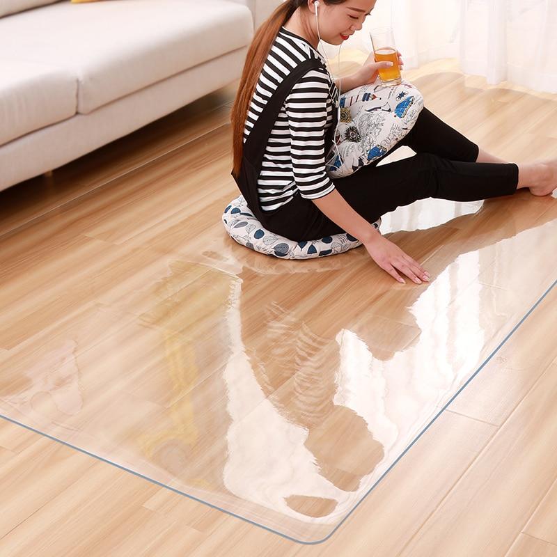 Деревянный пол защитный коврик ПВХ прозрачный нескользящий водонепроницаемый коврик для йоги офисный стул мебель для журнального столика ...
