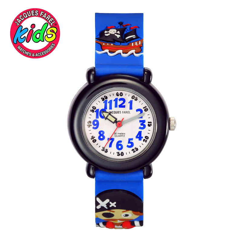 JACQUES FAREL Kids Children watches fashion cute cool simple waterproof Quartz Wristwatches Boys  clock fashion brand children quartz watch waterproof jelly kids watches for boys girls students cute wrist watches 2017 new clock kids