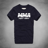 MMA Fight Night T Shirt Instructor Competition Tees Muay Thai Full Contact Combat Grapple Durable Fabrics