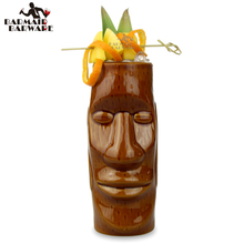 450ml Hawaii Tiki Mugs Cocktail Cup Beer Beverage Mug Wine Mug Ceramic Easter Islander Tiki Mug enchanted tiki room