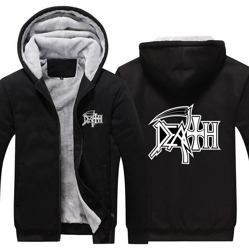 Новинка! Смерть толстовки рок-группа тяжелый металл свитер с капюшоном Повседневное человека куртки пальто Для мужчин толстовки кофты с ка...