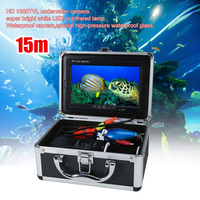New Professional Video Fish Finder 1000TVL Lights Controllable Underwater Fishing Camera Kit Lake Under Water Video