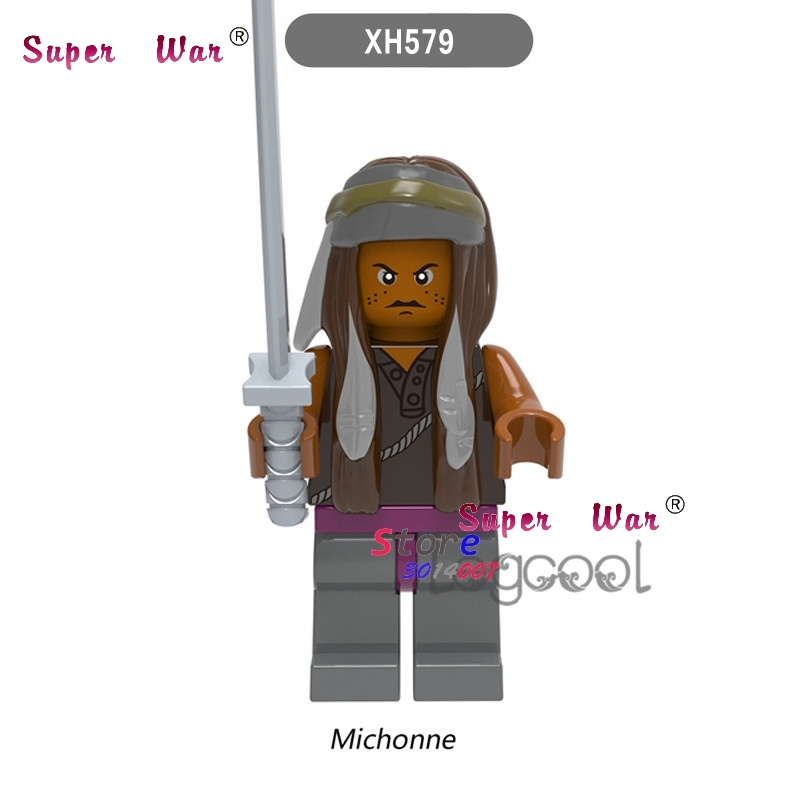 1PCS model building block action figure starwars superheroes The Walking Dead Series Michonne classic diy toys for children gift