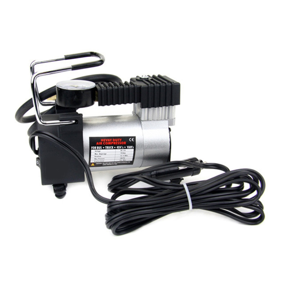 New Portable Styling 12V 100PSI/965kPA Car Electric Air Compressor Tire Infaltor Pump Vehicle Necessary Tire Inflator Tool Auto