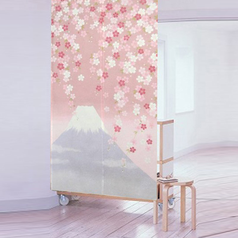 Beautifully Kitchen Door Curtains: High Quality Morden Japanese Tricot Yarn Beautiful Flower