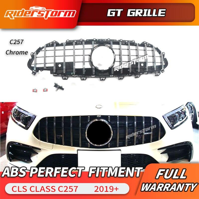 2019 grill grelha ABS para Mercedes CLS C257 Para GT CLS53 CLS400 CLS350 C257 CLS450 frente Substituição grade dianteira grill
