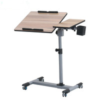 Adjustable Height Rolling Laptop Desk Table Computer Desk Home Office Furniture Mobile Sofa Bed Table Stand