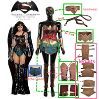 Movie Batman v Superman:Dawn of Justice Wonder Woman Cosplay Costume For Adult Women Fashion Outfit Clothing Carnival Christmas