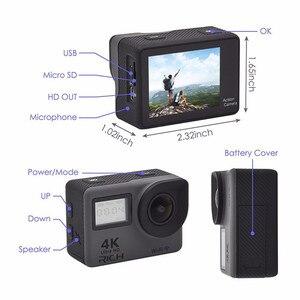 "Image 5 - 4K 2.0 ""Touch Screen WIFI Dual หน้าจอ 12MP กล้อง 30m DV 170 องศากว้างเลนส์มุมกว้างกีฬา Cam"