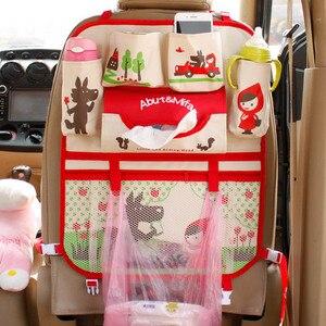Image 5 - Cute Cartoon Lion Car Organizer Seat Back Storage Bag Hanging Stowing Tidying Baby Kids Travel Universal Auto Multi pocket Bag
