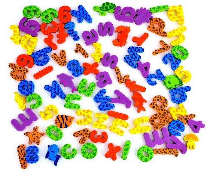 42pcsset 26 letters 10 numbers6 animal water stickers foam