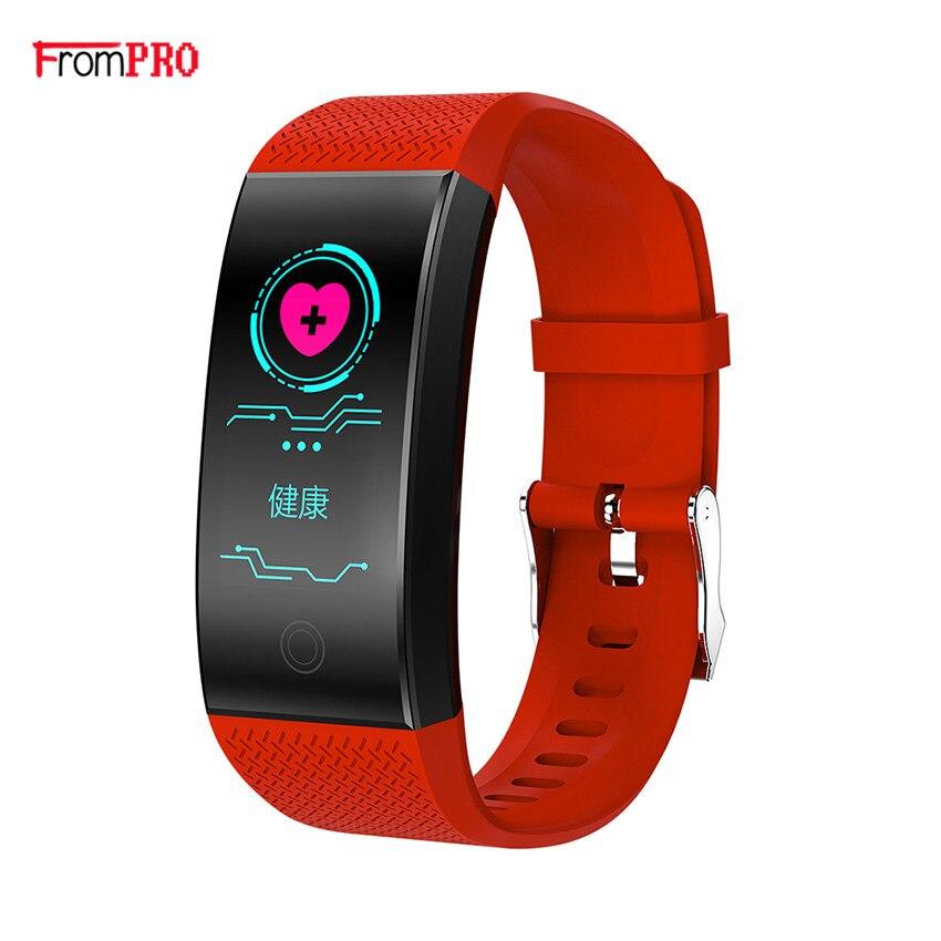Pulsera inteligente Fitness banda QW18 Fitness Tracker podómetro Bluetooth Frecuencia Cardíaca Sensor de presión arterial smartband PK mi banda 3