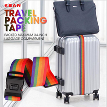 Rainbow Nylon Travel Suitcase Straps Combination Lock For Within 30inch Baggage Luggage Suitcases St