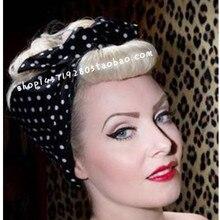 1950 s винтажная рокабилли пинап белая черная лента на голову в горошек головной платок для волос аксессуары для галстуков Популярные платки Долли
