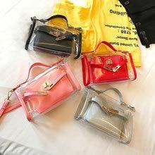 Fashion Women's PVC Clear Transparent Shoulder Bag Tote Girl
