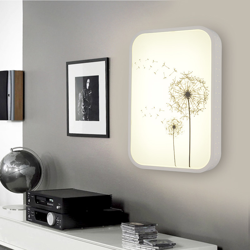 New Wall Lamp Interior Plant pictures decorate LED bedside lamp ultra-thin fashion Wall Art Wall Pictures For Living Room Home цена 2017