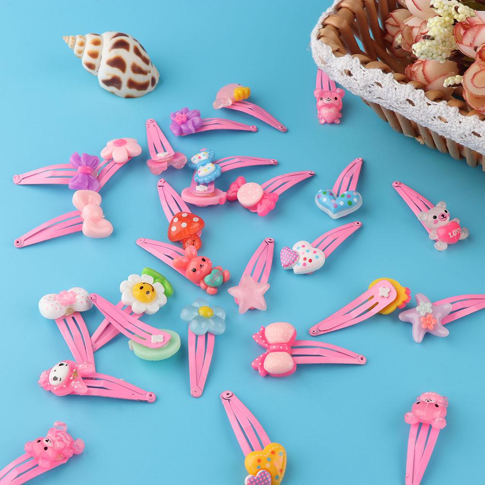 HTB17dt2SpXXXXXCapXXq6xXFXXX9 12-Pieces Mix Colorful Fruit Flower Star Animal Fish Ribbon Heart Candy Hair Accessories For Girls