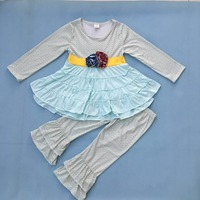 Persnickety Remake Boutique Toddler Girls Clothing Sets Newborn Baby Floral 2 Pcs Outfits Fall Winter Children