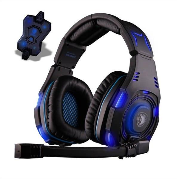 bose gaming headset. Sades 7.1 Sound Track Pro Blue LED Gaming Headset W/Omni-Directional Mic Bose R