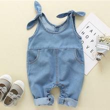 Модные комбинезоны для малышей джинсовые брюки на подтяжках