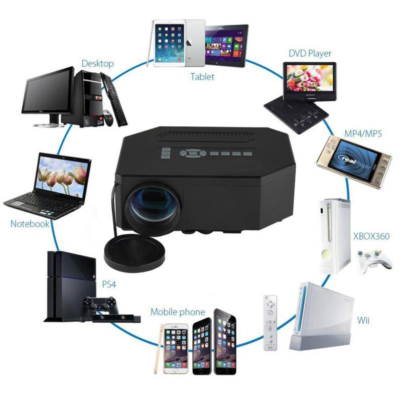 Calidad Superior UC30 1200 Lúmenes HDMI 1080 P Multimedia Home Theater Proyector
