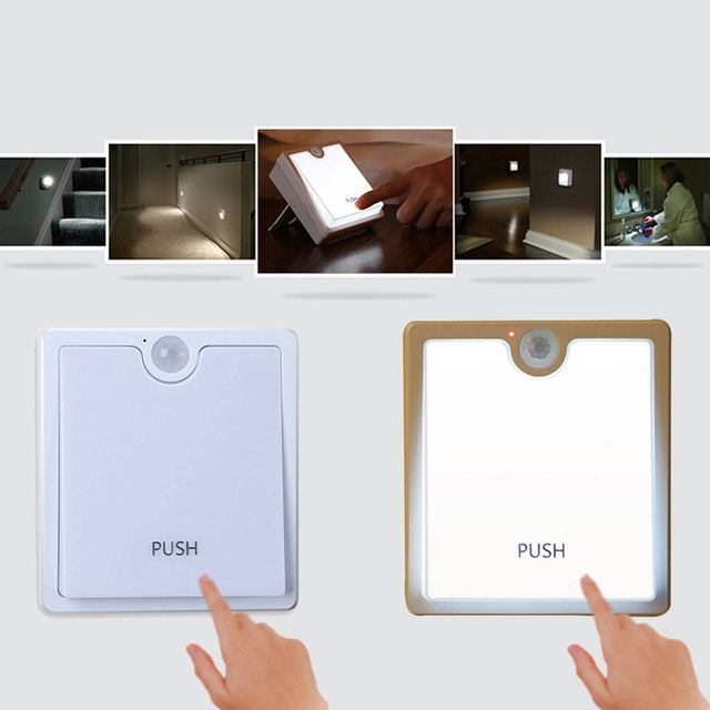 Dimmable PIR Motion Sensor Aisle Pathway Night Light Emergency Lamps Home  Lighting USB White Drop Shipping
