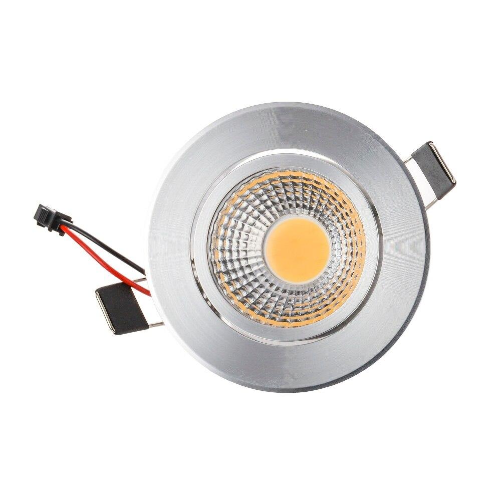 Оптовая продажа 50 шт. 6 Вт удара светодиодные светильники затемнения AC110-240V светодиодный встраиваемый светильник 120 Угол теплый белый/холодн...