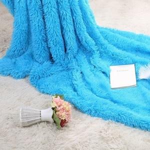Image 4 - XC USHIO 2020ใหม่โยนผ้าห่มผ้าคลุมเตียงผ้าปูที่นอนBrightสีSuper Soft Long Shaggy Warmคริสต์มาสของขวัญ