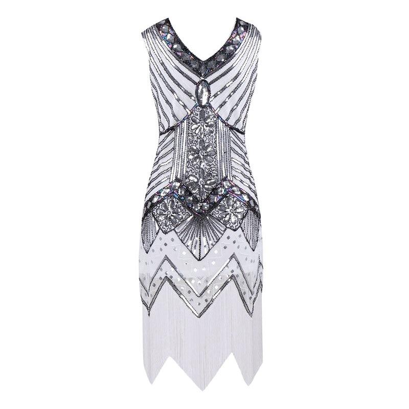 82451b6a51f Flapper Dress 1920s Great Gatsby Dress Sequin Beading V Neck Tassel Black  Party Long Summer Flapper Dress Women-in Dresses from Women s Clothing ...