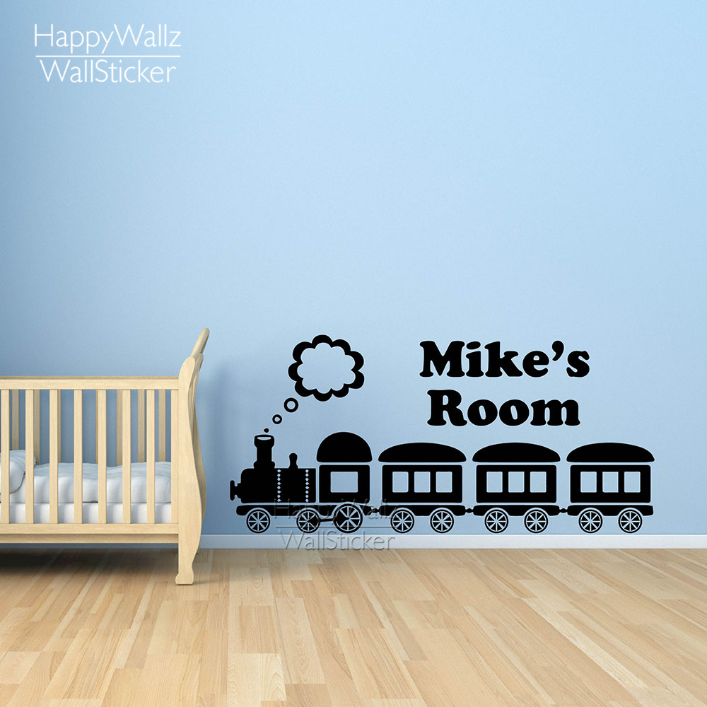 Custom Name Wall Sticker Train Children Name Wall Decal Baby Nursery Room  DIY Train Wall Sticker Kids Room 597C In Wall Stickers From Home U0026 Garden  On ...