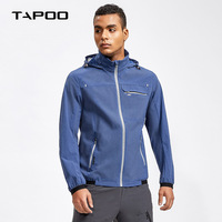 TAPOO Brand 2018 New Jackets Mans Jacket Spring Solid Color Hooded Casual Loose Jackets For Male Zipper Outwear Plus Size M XXXL